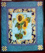 Original Design HandQuilted Wallhanging.  Owner:  Heather Bush